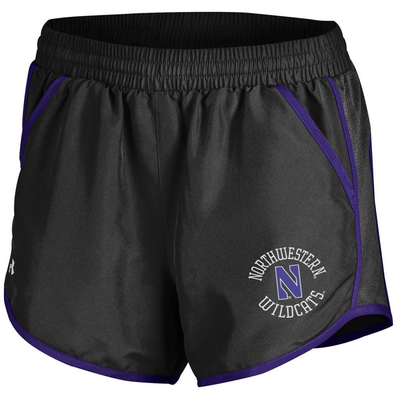 Northwestern Wildcats Under Armour® Women's Fly By Short - Black
