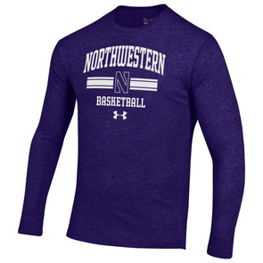 Northwestern Wildcats Under Armour® Tri-Blend Basketball T-Shirt Long Sleeve