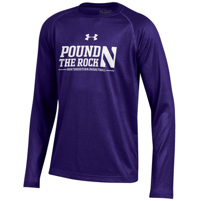 Northwestern Wildcats Pound The Rock Youth Long Sleeve T-Shirt