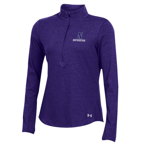 Northwestern Wildcats Under Armour Ladies Tri-Blend Half Zip