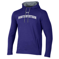 Northwestern University Wildcats Under Armour Threadborne Ridge Fleece Hood-Purple