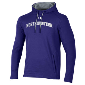 Northwestern Wildcats Under Armour Classic Arch Hood-Purple