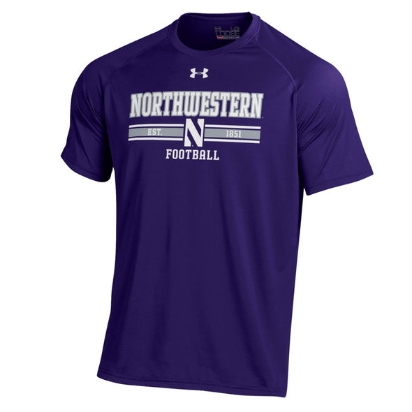 Northwestern Wildcats Under Armour  Youth Football T-Shirt