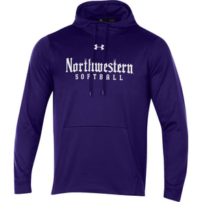 Northwestern Wildcats Softball Purple Gothic Hooded Sweatshirt