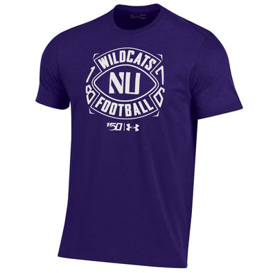 Northwestern Wildcats Under Armour College Football 150th Anniversary Purple Tee-Adult