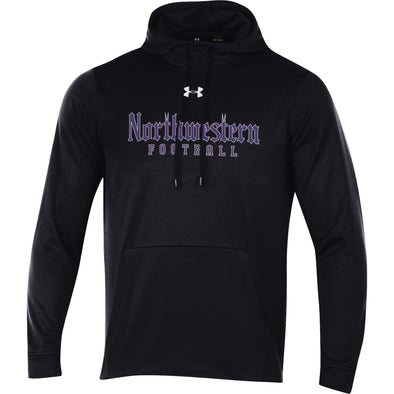 Northwestern Wildcats Black Gothic Football Sweatshirt