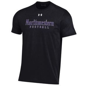 Northwestern Wildcats Black Gothic Football Tee