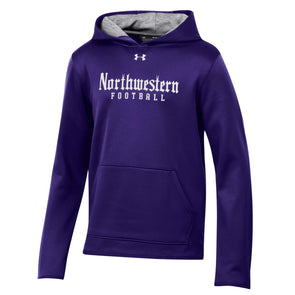 Northwestern Wildcats Under Armour Purple Football Gothic Hooded Sweatshirt-Youth