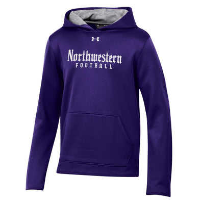 Northwestern Wildcats Under Armour Purple Football Gothic Hood-Youth