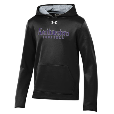 Northwestern Wildcats Black Gothic Football Sweatshirt-Youth