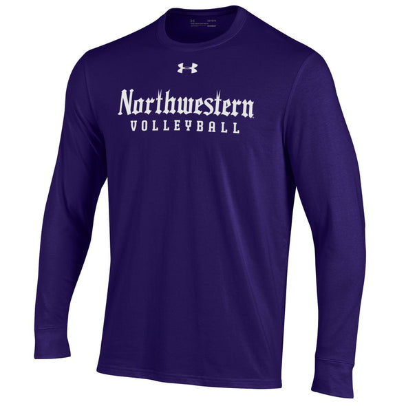 Northwestern Wildcats Under Armour Long Sleeve Gothic Volleyball  T-Shirt-Purple