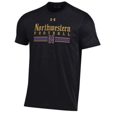 Northwestern Wildcats Under Armour Football Gothic Stripe Tee
