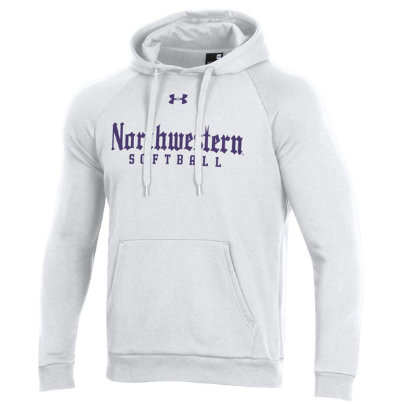 Northwestern Wildcats Under Armour White Gothic Softball Hooded Sweatshirt