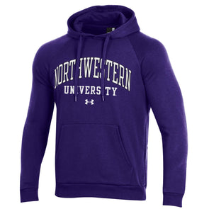 Northwestern Wildcats Under Armour All Day Fleece Hood-Purple