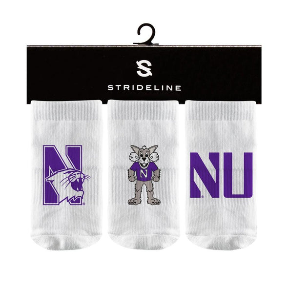 Northwestern Wildcats 3-Pack Baby Socks