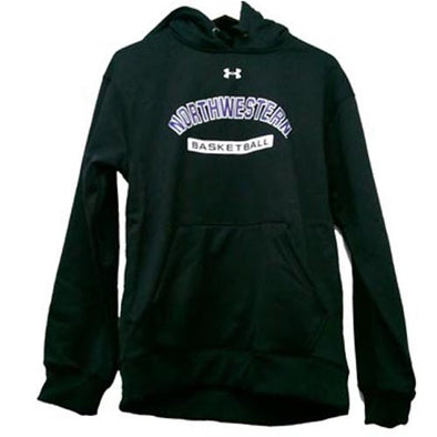 Northwestern Wildcats Under Armour® Basketball Black Fleece Hoodie
