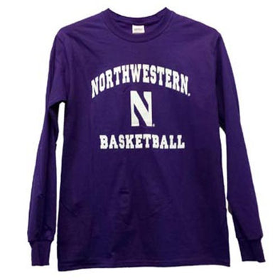 Northwestern Wildcats Basketball Gameday Long-Sleeve T-Shirt