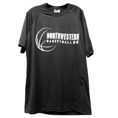 Northwestern Wildcats Under Armour® Black Basketball Tech T-Shirt