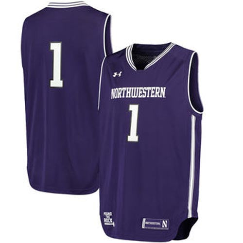 the best attitude dc7b6 70ef1 Northwestern Wildcats Under Armour® Replica Basketball Performance Jersey -  Purple -