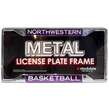 Northwestern Wildcats Basketball License Plate