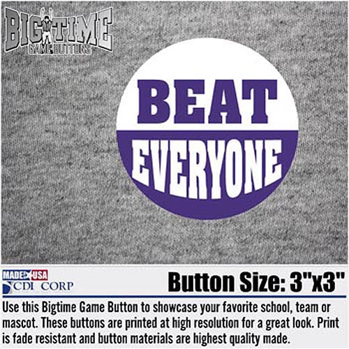 Northwestern Wildcats Beat Everyone Button