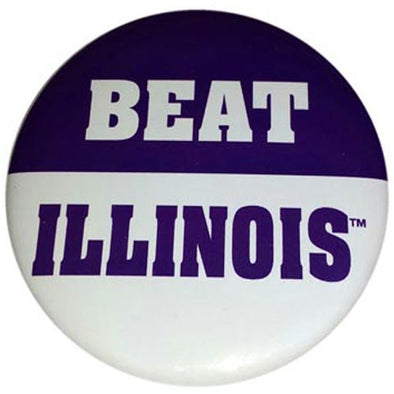 Northwestern Wildcats Beat Illinois Button