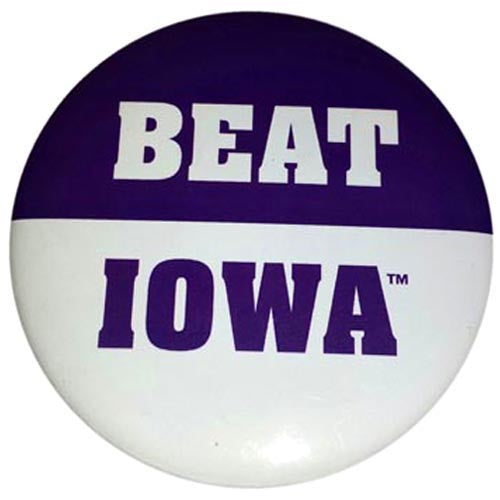 Northwestern Wildcats Beat Iowa Button