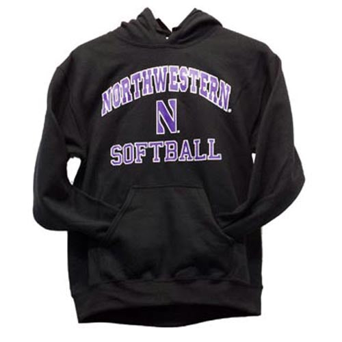 Northwestern Wildcats Black Northwestern Softball N Hoodie