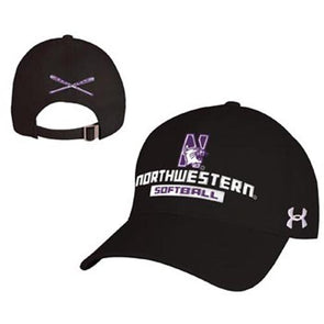Northwestern Wildcats Under Armour® Black Softball Hitter Hat