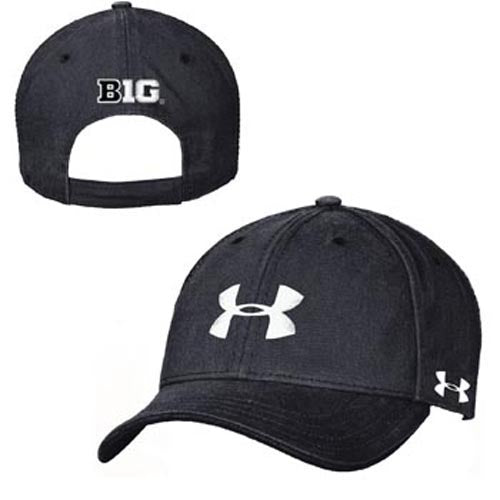 Northwestern Wildcats Under Armour® Black Youth Big Ten Hat