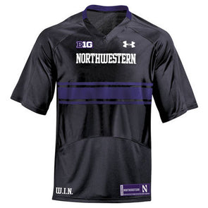 Northwestern Wildcats Under Armour® Youth Black Custom Replica Football Jersey