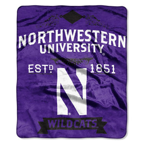 Northwestern Wildcats Raschel Throw