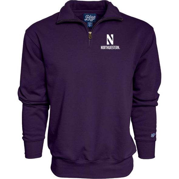 Northwestern Wildcats Quarter Zip Sweatshirt-Purple