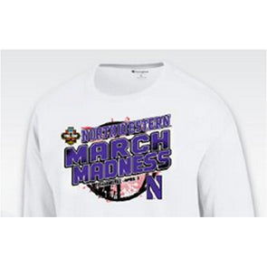 Northwestern Wildcats 2017 Bracket Basketball T-Shirt - Long Sleeve