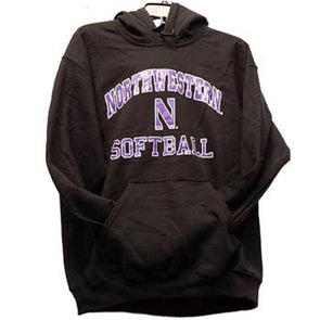 Northwestern Wildcats Northwestern Black Softball Hoodie