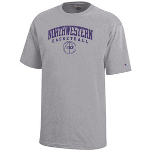 Northwestern Wildcats Big Ten Grey Basketball T-Shirt