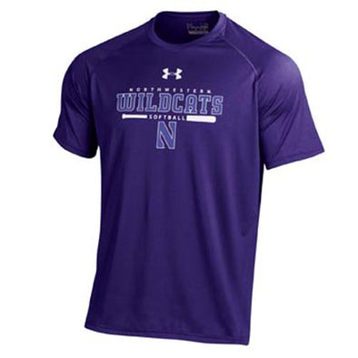 Northwestern Wildcats Under Armour® Softball Purple Batter Up Tech T-Shirt