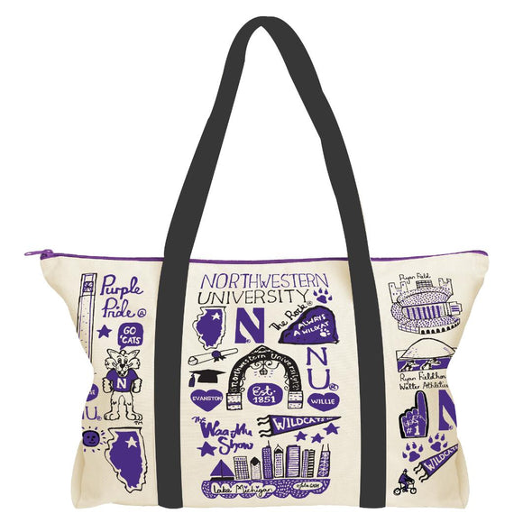 Northwestern Wildcats Natural Canvas Weekend Bag