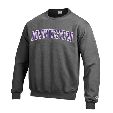 Northwestern Wildcats Champion Charcoal Crew Sweatshirt