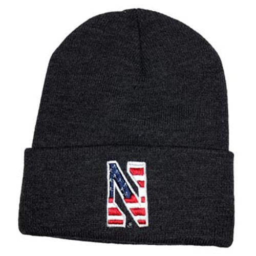 Northwestern Wildcats Charcoal Patriot Cuffed Knit Cap