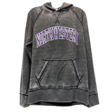 Northwestern Wildcats Vintage Zen Dark Smoke Fleece Hoodie Pullover Sweatshirt