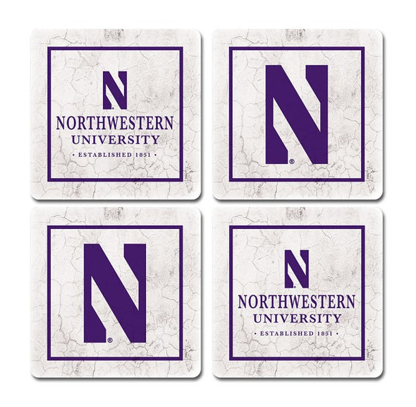 Northwestern Wildcats Thirsty Coaster 4-Pack