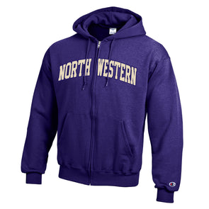 Northwestern Wildcats Champion® Full-Zip Purple Hoodie
