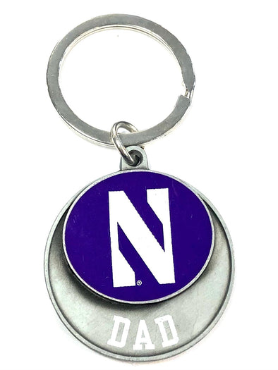 Northwestern Wildcats Dad Keychain