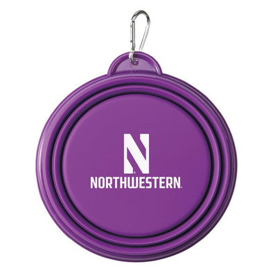 Northwestern Wildcats Collapsible Pet Bowl