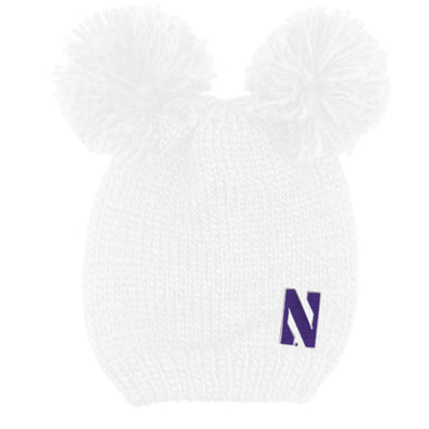 Northwestern Wildcats Double Knit Pom-White
