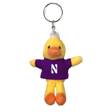 Northwestern Wildcats Duck Keychain