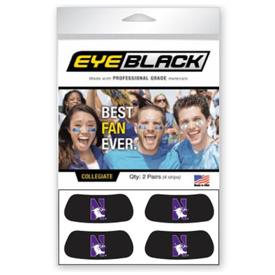 Northwestern Wildcats 2-Pair Eye Black