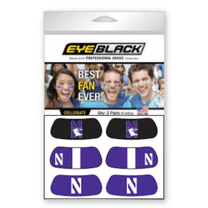 Northwestern Wildcats 3-Pair Eye Black
