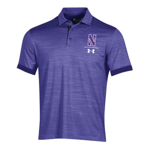 Northwestern Wildcats Under Armour Playoff Vented Polo-Purple